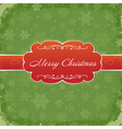 merry christmas grunge invitation vector image