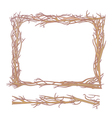 frame made from branches vector image