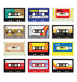 Vintage cassette tapes vol 3 vector image
