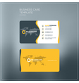 Corporate Business Card Print Template Personal vector image