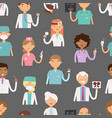 different doctors profession charactsers seamless vector image