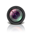 object camera lens vector image