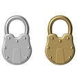 old padlock vector image