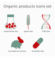 organic products icons set vector image