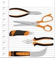 set cutter vector image