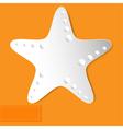 starfish orange background vector image