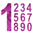 Triangle numbers vector image