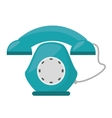 green telephone communication appliance home vector image