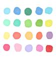 Set watercolor dos Colorful watercolor blobs Round vector image