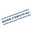 Beer Festival Watermark Stamp vector image