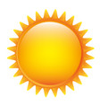 yellow sticker sun icon vector image