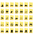 Transportation set of different web icons vector