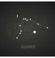 astrology elements aquarius on black vector image