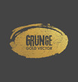 grunge golden ellipse shape vector image