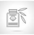 Herbal tincture flat line design icon vector image
