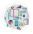Icons of search engine optimization service SEO vector image