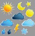 set weather icon vector image