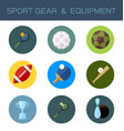 sport gear flat icon vector image