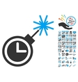 Time Bomb Icon With 2017 Year Bonus Symbols vector image