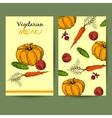 VegetarianMenu vector image