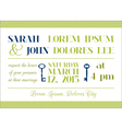 Wedding Invitation Card - Key Theme vector image