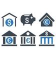 Bank Flat Icons vector image