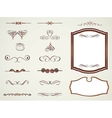 Labels frames and calligraphic elements vector image vector image