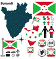 Burundi map vector image vector image