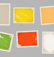 Vintage color post stamps template clip-art vector image vector image