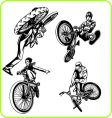 BMX silhouettes vector image