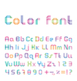 color font from three strips vector image