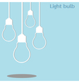 hanging light bulb vector image