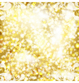Abstract golden background with floral pattern vector image