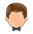 cute and little boy vector image