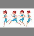 female running animation frames set sport vector image