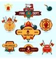 Firefighter Emblems Set vector image