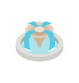 Fountain icon isometric 3d style vector image