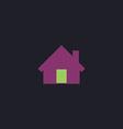 Home computer symbol vector image