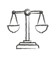monochrome blurred silhouette of justice scales vector image