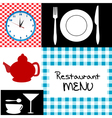 Retro restaurant menu vector image