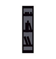 icon Bookshelf vector image vector image