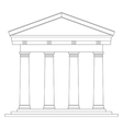 Tuscan temple vector image