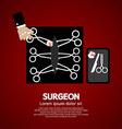Surgeons Incision Scissors vector image