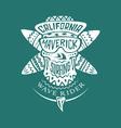 Surfing skull maverick vector image