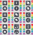 Palette Silhouette Planet Apps Chat Sound House vector image