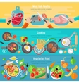 Home cooking flat banners set vector image
