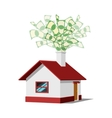 House with money vector image