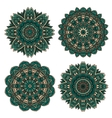 Lace floral pattern with emerald flower petals vector image vector image