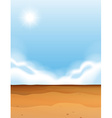Scene with desert and blue sky vector image