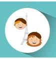 children around the world design vector image
